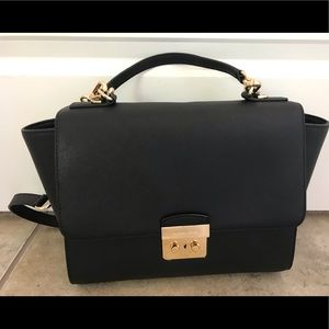 Michael Kors Black crossbody satchel